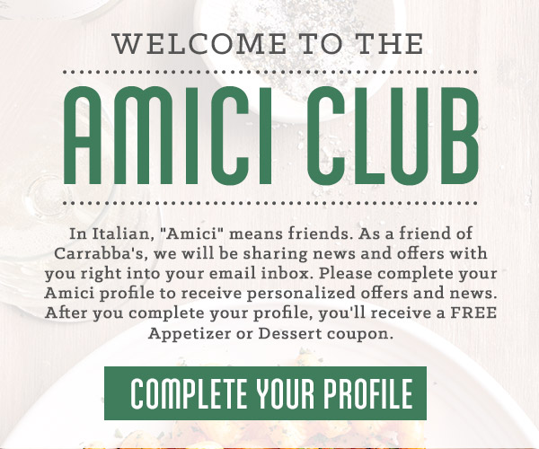 Welcome to the Amici Club.