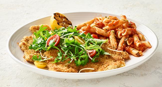 Parmesan Chicken Arugula